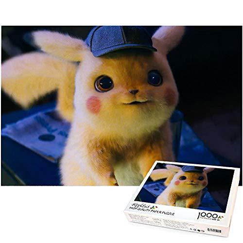 Rompecabezas de 1000 Piezas para Adultos Pikachu, Rompecabezas de Juguete de descompresión para Adultos, decoración del hogar, Regalo, Juego Familiar, Rompecabezas 70x50cm-Detective Pikachu Pokemon
