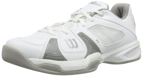 Wilson Rush Open W, Zapatillas de Tenis Mujer, Multicolor (White/White/Cool Grey), 39 2/3 EU