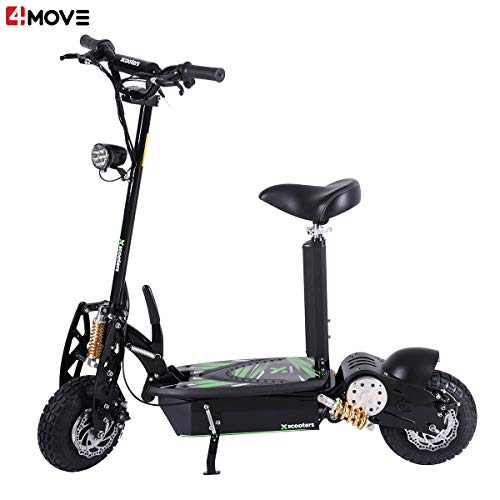 4MOVE XT01 Elektroroller Scooter 1000W Motor 36V 12Ah Blei Batterie, E-Scooter, Elektro Scooter, E-Roller, Schwarz Elektroroller, Electric Scooter