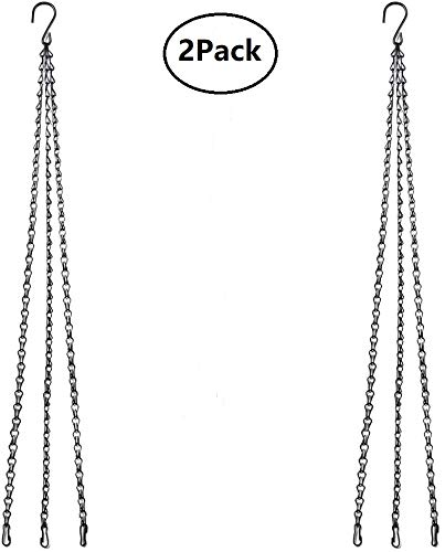 KSS Hanging Chain with Clips, 2 Sets Garden Flower Pot Plant Hanger Flower Basket Replacement Chain for Hanging Planters Baskets Lanterns Bird Feeders (2, 41)