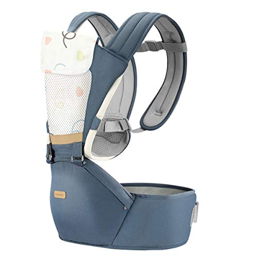 Bammax 360 All-Position Baby Carrier for Newborn with Lumbar Support, Embrace Cozy Newborn Baby Ergonomic Wrap Carrier, Adapt to Newborn, Infant & Toddler (Grey)