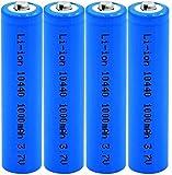 4Pcs 3.7V Volt 1000Mah 10440 Baterías De Iones De Litio para Mouse Banco De Energía Micrófono Radio Linterna Cámara Juguete Ventilador De Control Remoto