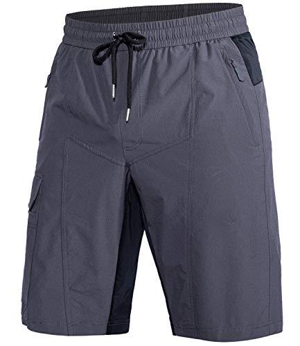 Cycorld MTB Hose Herren Radhose, MTB Shorts Fadhose Herren Outdoor Bike Shorts (Neues Grün, XL)
