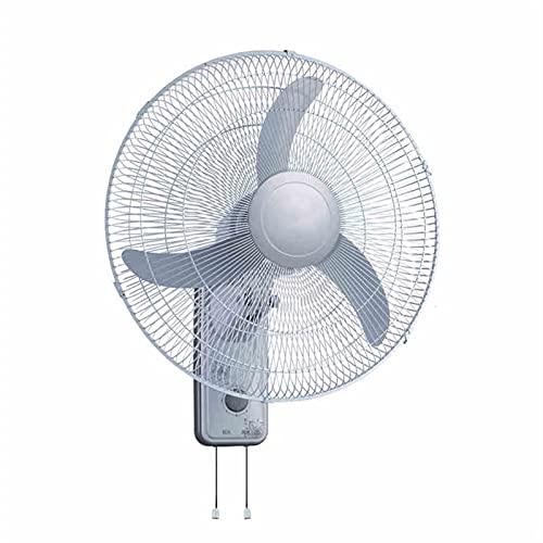 WJY 18 Pulgadas Ventilador de Pared, 3 Velocidades de Ventilación, Funcionamiento Silencioso, ángulo Ajustable, Ventilador Eléctrico, Ahorro de Energía Oscilante Verano Doméstico Silencioso