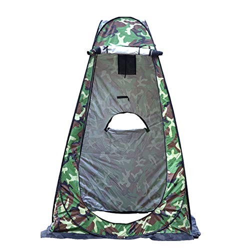 IOOI Pop up Duschzelt Umkleidezelt Toilettenzelt, Camping Duschzelt Mobile Tragbar Outdoor Privatsph WC Zelt Lagerzelt für Camping Backpacking Wanderstrand Outdoor (Tarnung, 120x120x190 cm)