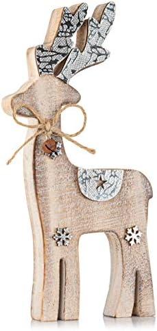 Zilo Novelties Reindeer Decor Holiday Display Set for Mantle Centerpiece or Table Medium product image