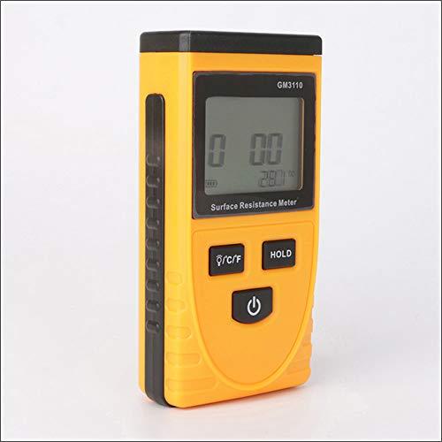 QWERTOUR Oberflächenwiderstand Meter Handerdungsmessgerät Messgerät Static Detector GM3110 Digital Widerstand Werkzeuge