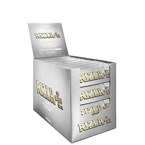 2500 CARTINE RIZLA SILVER ARGENTO CORTE ROLLING PAPER BOX DA 50 ASTUCCI