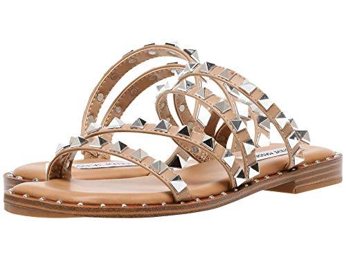 Steve Madden Women's Skyler Flat Sandal, Tan, 8
