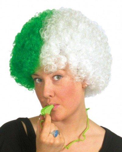 Sports Fan perruque vert / blanc [Jouet]