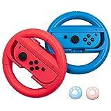 Lammcou Joycon Par de soportes para volante Compatibile con Nintendo Switch Joy Con Controller Adaptador de volante para juegos de carreras Racing Game Grip Holder Accessory