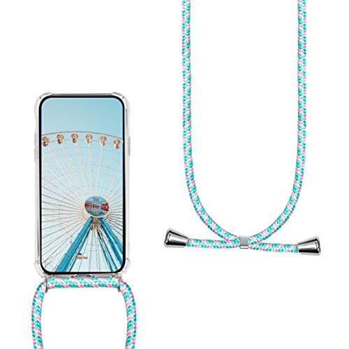 MXKOCO Carcasa de movil con Cuerda para Colgar Xiaomi Redmi 5 Plus Case con Correa Colgante/TPU Necklace con Banda- con Cordon para Llevar en el Cuello - Polvo Verde
