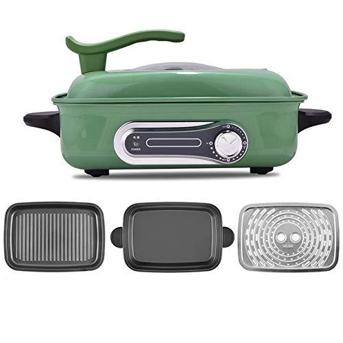 DMMSS Pote multifunción, pote de hotpot Antiadherente, Tapa de Vidrio, shabu shabu hotpot para Dormitorio/Familia/Viajar/Fiesta,C