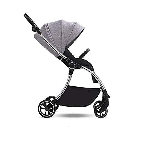 LOMJK Carritos y sillas de Paseo Plegable de la Caja de la Carretilla del Cochecito for bebés portátil de la Carretilla del Recorrido de Aluminio del Cochecito de bebé de Dos vías Ligero Choque