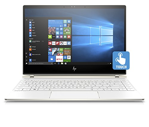"HP Spectre 13-af002nl Notebook PC con display Touch da 13.3"" FHD IPS (Processore i7-8550U, 8 GB di RAM LPDDR3, SSD da 512 GB, Scheda Grafica Intel UHD 620 ) Bianco Ceramica [Layout Italiano]"