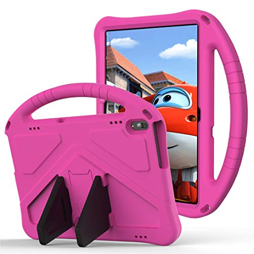 GOZOPO Compatible con Huawei MediaPad T5 Case T5 Tablet de 10.1 pulgadas [no apto para Huawei T3 de 9.6 pulgadas] – Funda ligera y resistente a los golpes con asa para niños (rosa)