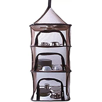 Adwaita Outdoor Drying Rack Hanging Camping Drying Net (4 Tiers)
