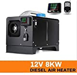 12V 5KW Diesel Air Heater   Diesel Parking Heater Muffler   Automotive Diesel Air Conditioning Heater with LCD Thermostat Monitor for RV, Snow Plow, Motorhome, Trailer, Trucks, Boats (Black)