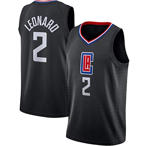 HZHEN Jerseys de la NBA de los Hombres, Kawhi Leonard 2# Clippers Basketball Jersey, Fresco Tela Transpirable Camisa de Entrenamiento Ventilador sin Mangas Chaleco,S (165~170CM / 50~65KG)