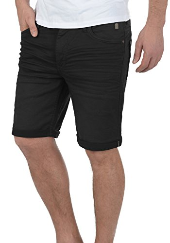Blend Diego Herren Jeans Shorts Kurze Denim Hose Aus Stretch-Material Slim Fit, Größe:L, Farbe:Black (70155)