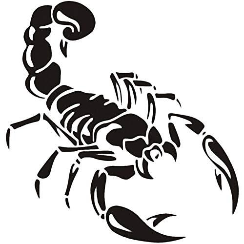 likeitwell Skorpion Scorpion Aufkleber Auto Tuning Sticker Aufkleber 3D Wasserdicht Auto Aufkleber Fensteraufkleber Scary Würfel Auto Applique Für Laptop Fenster Wand Auto LKW Motorrad Convenient