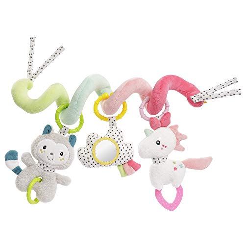 Fehn 057034 Aiko & Yuki - Espiral de actividades con colgantes de animales, multicolor (Producto para bebé)