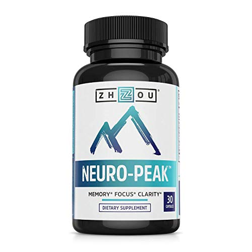 Neuro Peak Brain Support Supplement - Memory, Focus & Clarity Formula 2 Bottles