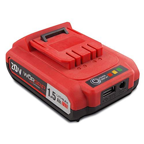 bateria para atornilladores y taladros worgrip pro 20 voltios. 1.5AH