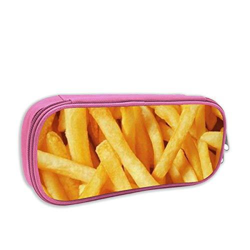 Lawenp Estuche para bolígrafos con impresión de papas fritas y papas fritas, bolsa de papelería portátil para la escuela, bolsa de almacenamiento diario de oficina de 2 x 4 x 8 pulgadas
