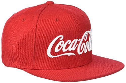 Coca Cola Logo Snapback Cap - Unisex Baseball Cap für Herren und Damen, einfarbig Rot, Größe One Size