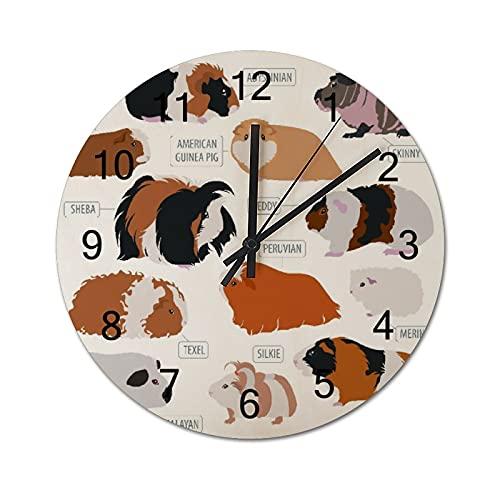 Reloj de Pared Vintage,Clasificación de diseño infogr,Relojes de Pared de Madera silenciosos Que no Hacen tictac,Reloj de Pared rústico de Granja para la decoración del Dormitorio de la Sala de Estar