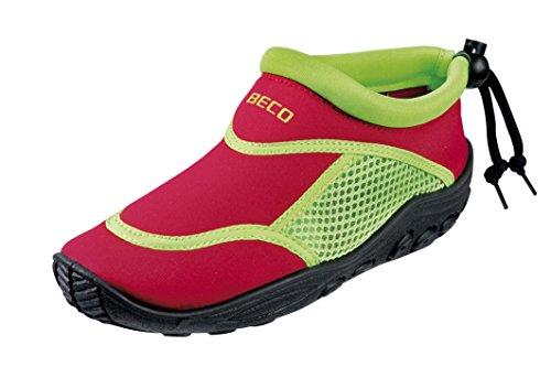 BECO Badeschuhe / Surfschuhe für Kinder rot/grün 35