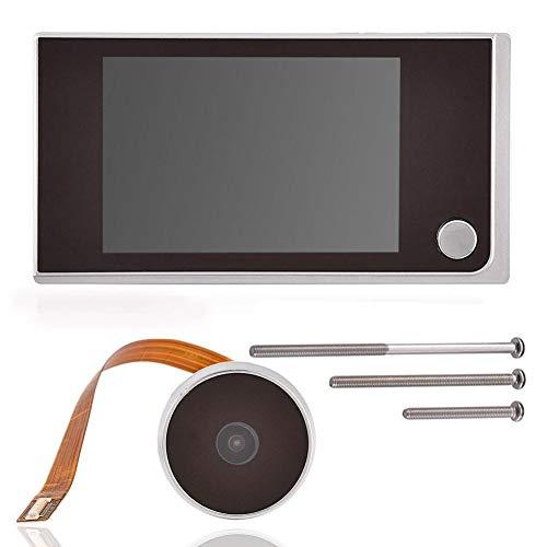 Zerone Mirillas para puertas, Timbre digital TFT de 3,5 pulgadas, pantalla LCD Visor de 120 ° cámara de visión Cámara de seguridad de alta definición Visor de la casa Monitor de sistema de cámara