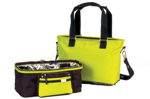 Little Company Spice Shopper/koeltas in chocolade bruin en Sunny Lime