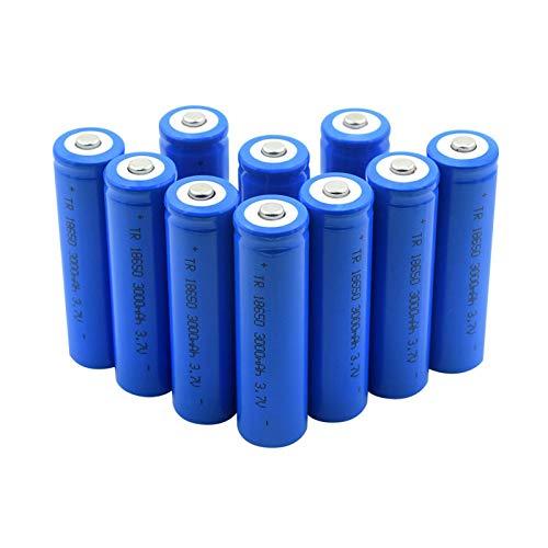WSXYD Batería De Iones De Litio De Alta Potencia 3.7v 18650 2800mah, Litio con Dos PestañAs De Bricolaje Icr 18650 Celdas para CáMara De Luz Led Mini Ventilador 6pieces