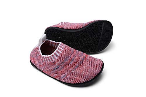Sosenfer Kinder Hausschuhe Jungen mädchen Anti-Rutsch Sohle Kleinkinder Schuhe Baby Slipper Unisex-FEN-27