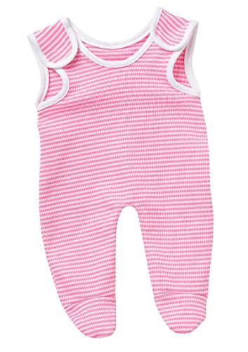 Unbekannt Schwenk Puppen Kleidung Strampler pink weiß für 30 - 33 cm Baby Puppen 57732