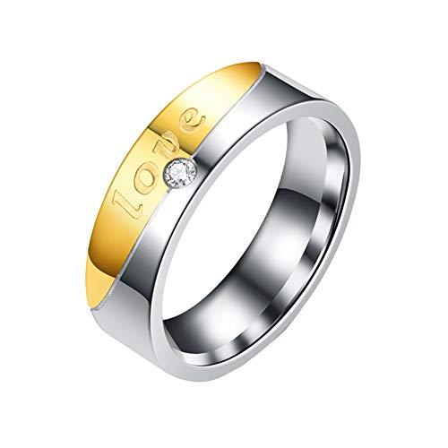 AchidistviQ Buchstaben, Forever Love, Strasssteine, für Paare, Hochzeit, Verlobung, Schmuck, Geschenk, Legierung, Women's, US 7