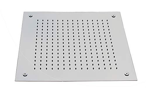 Soffione a incasso, effetto-pioggia, installazione a soffitto DPG5005-50x50cm, quadrato