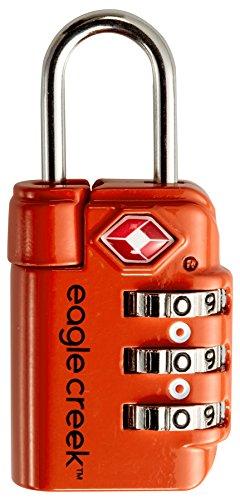 Eagle Creek Zahlenschloss für Gepäck Travel Safe TSA Lock Vorhängeschloss für die Reise, flame orange
