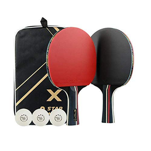Purchase XDKQ Portable Ping Pong Sets Table Tennis Racket Sets Equipped with 2X 3-Star Level 7 Ply P...
