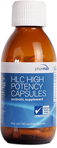 Pharmax - HLC High Potency Capsules - Probiotics to Promote Gastrointestinal Health in Adults and Children - 120 Capsules