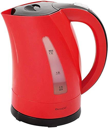 Domoclip dom298rn Wasserkocher zweifarbig rot/schwarz 1,7l 1,7Liter, 2200