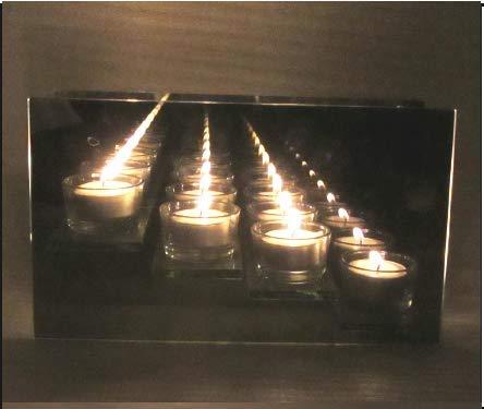 INTERHOME 3D OPTISCHE Kerzen Box Spiegel