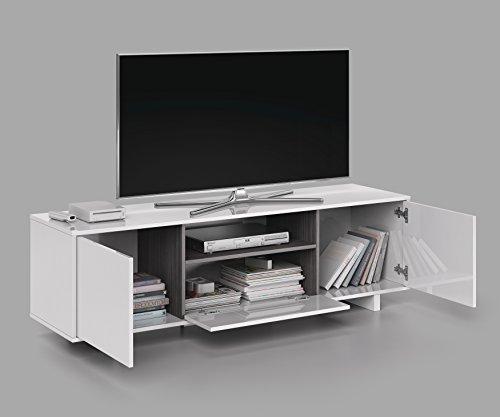 SERMAHOME- Mueble de Comedor y Salón Bajo TV Modelo Zoido. Color Blanco...