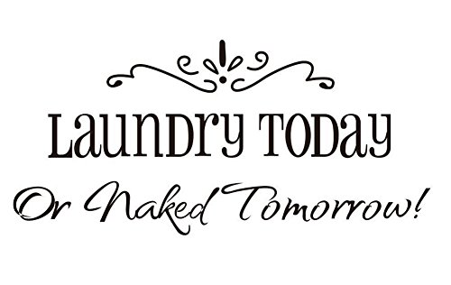 Lchen Laundry Today Or Naked Tomorrow PVC Wall Sticker Decal Home Decor Removable Laundry01