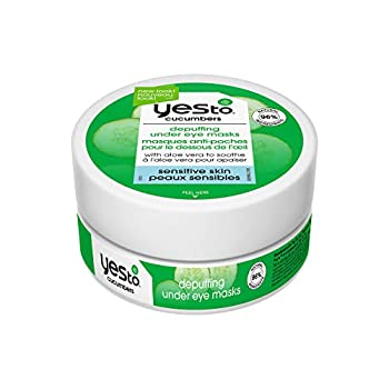 Yes To Soothing Depuffing Under Eye Masks for Sensitive Skin  Cucumber 8 Count