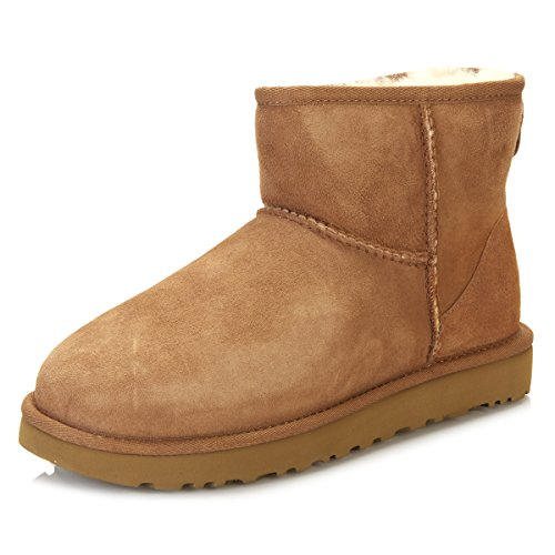 UGG Women's Classic Mini II Leather Chestnut Ankle-High Suede Boot - 5M
