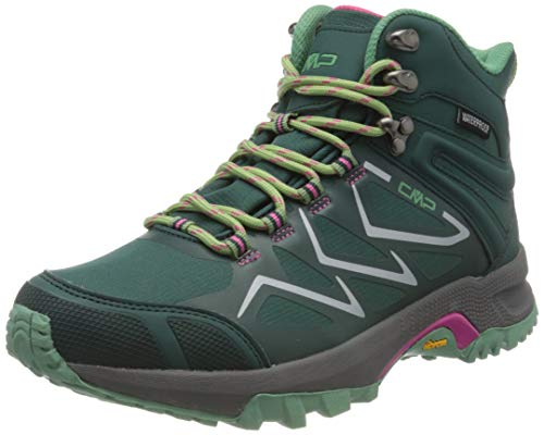 CMP – F.lli Campagnolo Damen Gemini Mid Wmn Shoe Wp Trekking-& Wanderstiefel, Grün (Petrol E905), 38 EU