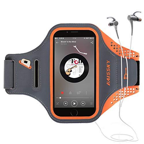 Guzack Brazalete Deportivo Running para Moviles Phone, Prueba de Sudor Ejecutando Brazalete con Clave Ranura para Correr Gimnasio para iPhone 6/6S/7/8, Samsung Galaxy S7 Edge, Huawei P8